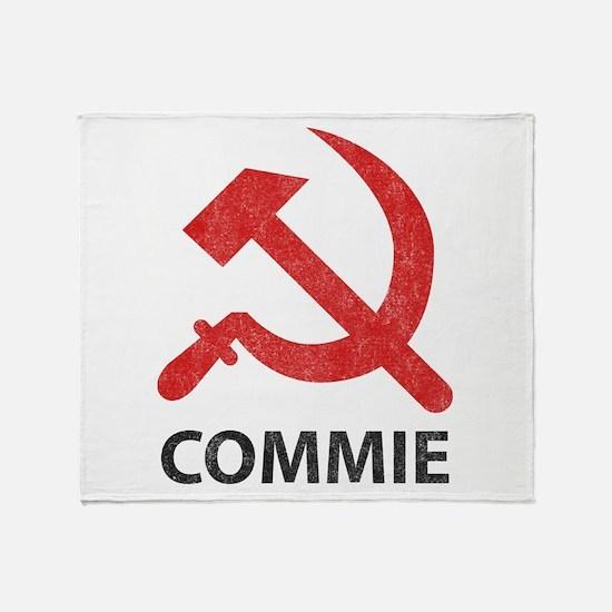Vintage Commie Throw Blanket