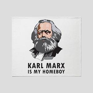 Karl Marx Is My Homeboy Throw Blanket