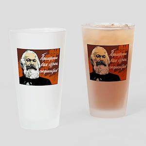 Karl Marx Pint Glass