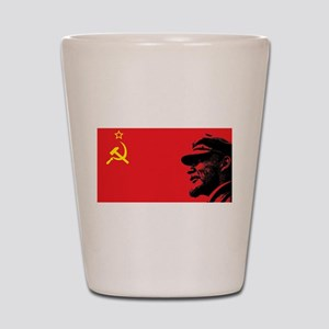 Lenin Soviet Flag Shot Glass