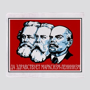 Marx, Engels, Lenin Throw Blanket