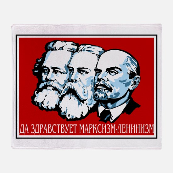 Marx, Engels, Lenin Throw Blanket