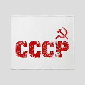 Vintage CCCP Throw Blanket