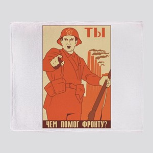 Red Army Throw Blanket