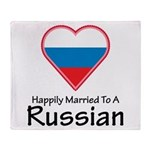 Happily Married Russian Throw Blanket