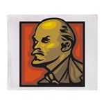 Lenin Throw Blanket