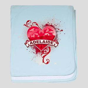 Heart Adelaide baby blanket