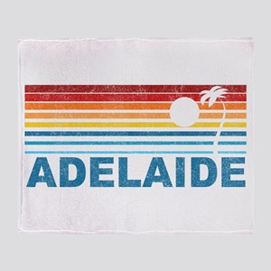 Retro Adelaide Palm Tree Throw Blanket