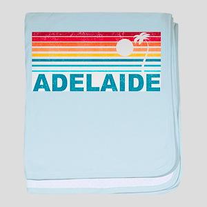 Retro Adelaide Palm Tree baby blanket
