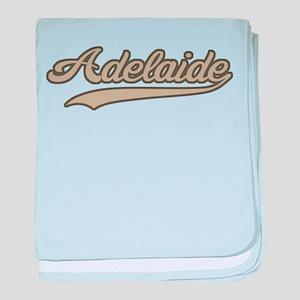 Retro Adelaide baby blanket