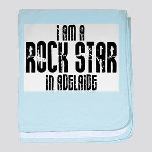 Rock Star in Adelaide baby blanket