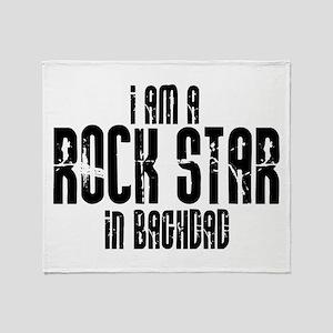 Rock Star In Baghdad Throw Blanket