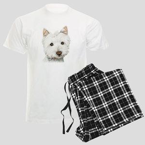 Westie Dog Men's Light Pajamas