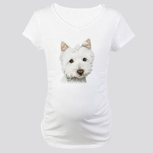 Westie Dog Maternity T-Shirt