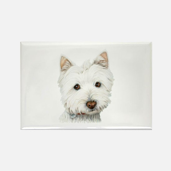 Westie Dog Rectangle Magnet