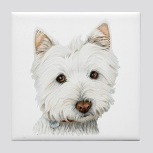 Westie Dog Tile Coaster