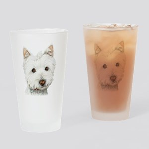 Westie Dog Pint Glass