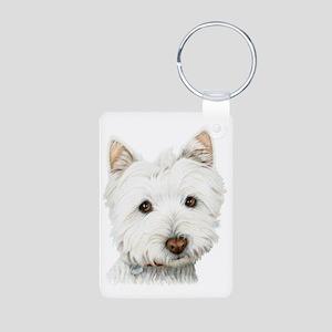 Westie Dog Aluminum Photo Keychain
