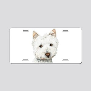 Westie Dog Aluminum License Plate