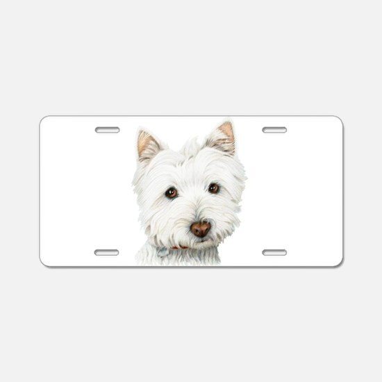 Westie Dog Aluminum License Plate