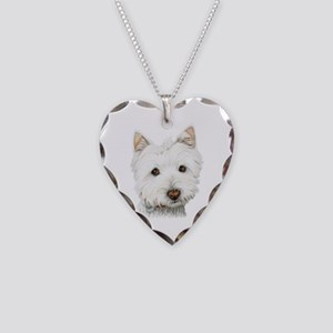 Westie Dog Necklace Heart Charm