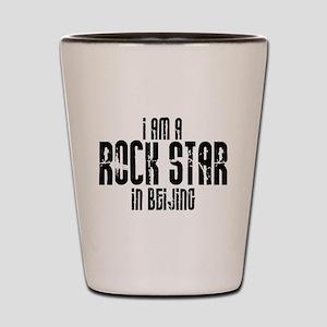 Rock Star In Beijing Shot Glass