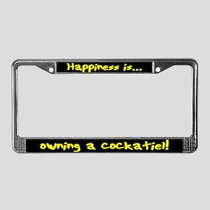 HI Owning Cockatiel License Plate Frame