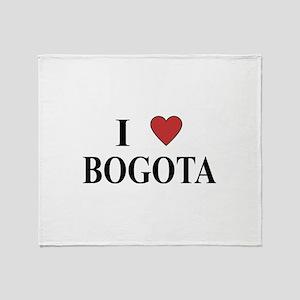 I Love Bogota Throw Blanket