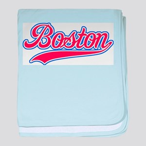 Retro Boston baby blanket