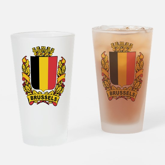 Stylized Brussels Crest Pint Glass