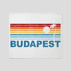 Palm Tree Budapest Throw Blanket