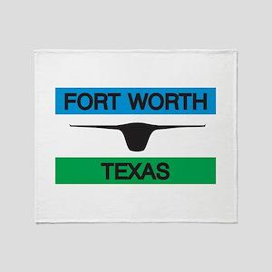 Fort Worth Flag Throw Blanket