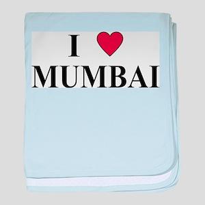 I Love Mumbai baby blanket