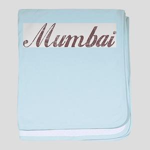 Vintage Mumbai baby blanket