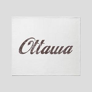 Vintage Ottawa Throw Blanket
