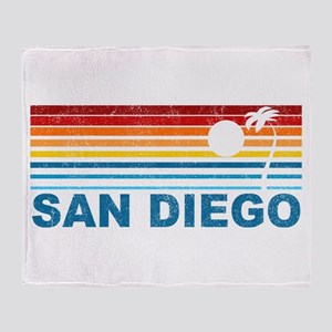 Palm Tree San Diego Throw Blanket