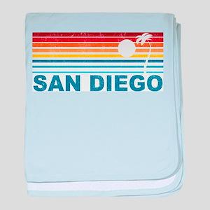 Palm Tree San Diego baby blanket