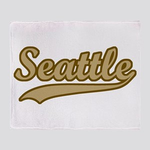 retro Seattle Throw Blanket