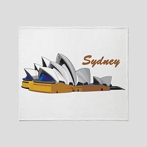 Sydney Opera House Throw Blanket