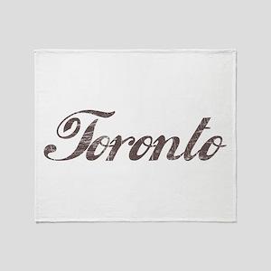 Vintage Toronto Throw Blanket