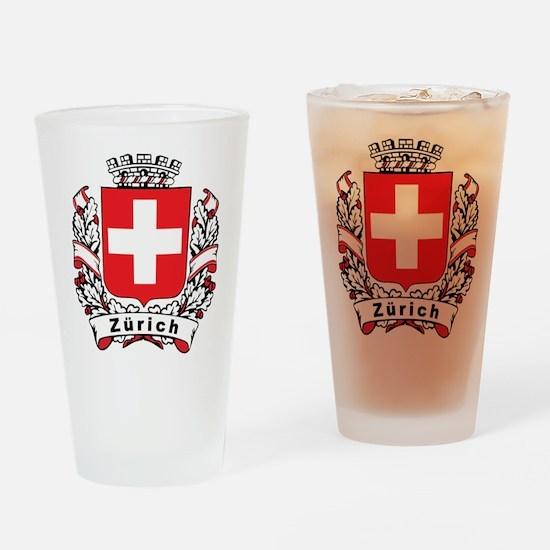 Stylish Zürich Crest Pint Glass