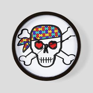 Rockin' Autism Skull Wall Clock
