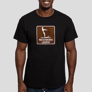 Waterskiing Legend Men's Fitted T-Shirt (dark)