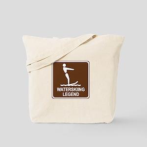 Waterskiing Legend Tote Bag