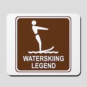 Waterskiing Legend Mousepad
