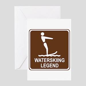 Waterskiing Legend Greeting Card