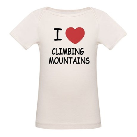 I heart climbing mountains Organic Baby T-Shirt