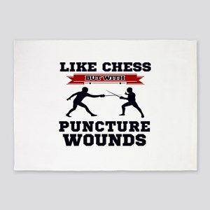 Like Chess But Without Puncture Wou 5'x7'Area Rug