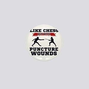Like Chess But Without Puncture Wounds Mini Button