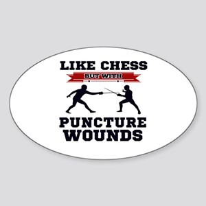 Like Chess But Without Puncture Wounds Sticker
